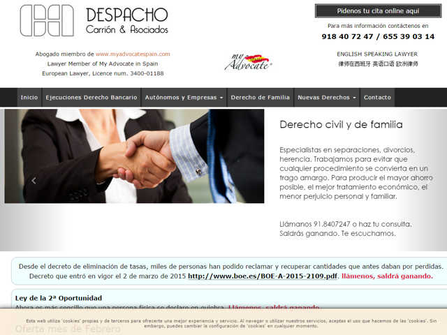 Web Despacho Carrion & Asociados